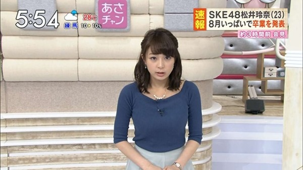 巨乳アイドル並みTBS宇垣美里アナ着衣エロ画像17