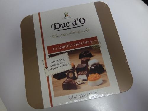 コストコ チョコレート DUC'D0 PRALINES 1,488円也(300円引き)