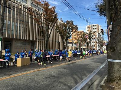 富山マラソン2015補給ブース