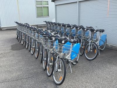 富山マラソンシクロ自転車貸出前