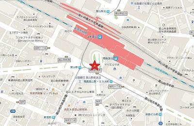 シクロシティ新ステーション富山駅南口MAP