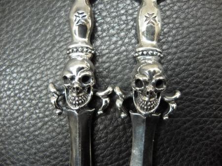Silver,Pendant,SkullOnDagger,Gaboratory