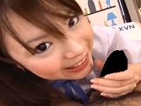【無修正】笑顔がかわいい美少女JKがカメラ目線でまったり濃厚フェラ♪
