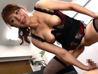 【翔田千里】ノルマ達成のご褒美に連続射精SEXさせるデカ尻で巨乳の熟痴女コンサルタント