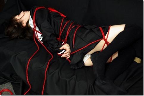 昭和浪漫風;母に内緒で調教された制服娘のSMエロ動画像15