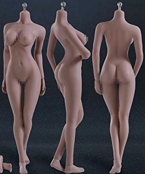 超柔軟性シームレス女性素体