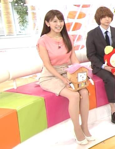 小澤陽子 美脚のミニスカ太ももキャプ画像(エロ・アイコラ画像)