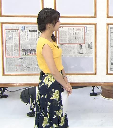 宇垣美里 タイトなノースリーブでおっぱいが目立つキャプ画像(エロ・アイコラ画像)