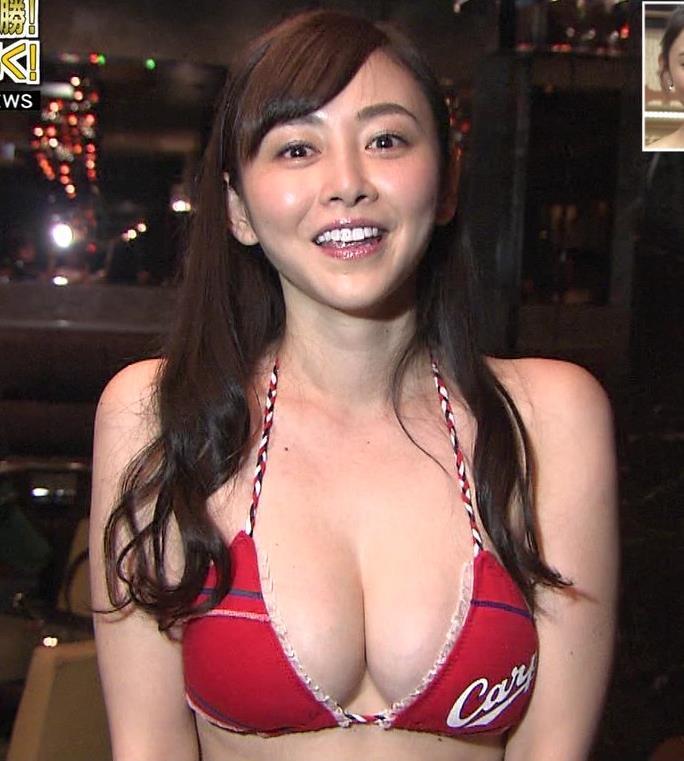 杉原杏璃 カープ優勝ビキニで地上波で爆乳キャプ画像(エロ・アイコラ画像)