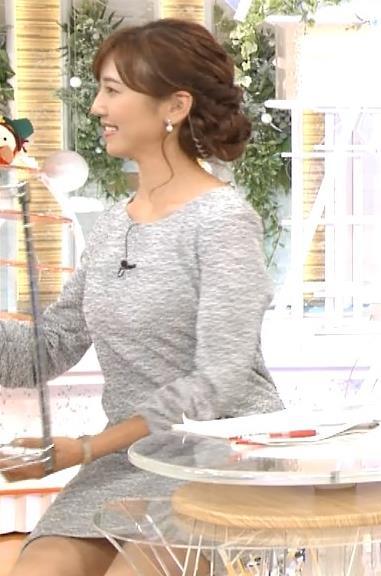 小澤陽子 美人アナのミニスカ美脚・太ももチラリキャプ画像(エロ・アイコラ画像)