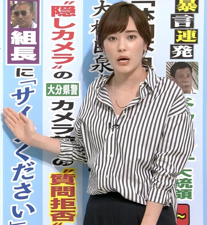 林みなほ シャツの胸元はだけ気味キャプ画像(エロ・アイコラ画像)