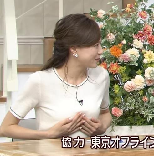 笹川友里 おっぱいを手で押さえる(手ブラ風)&横乳キャプ画像(エロ・アイコラ画像)