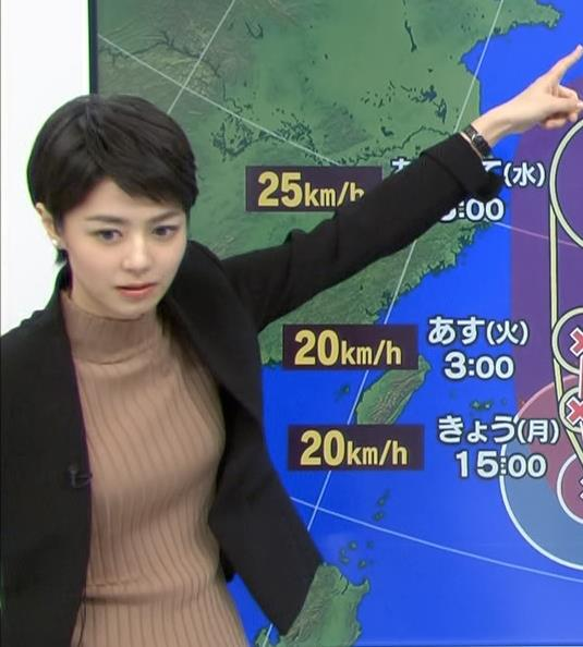 夏目三久 ジャケットの下のニットおっぱいキャプ画像(エロ・アイコラ画像)