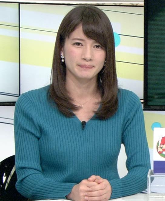 宇内梨沙 巨乳アナのニットおっぱいキャプ画像(エロ・アイコラ画像)
