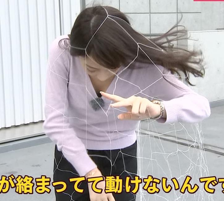 宇垣美里 胸元インナーチラがちょっとエロいキャプ画像(エロ・アイコラ画像)