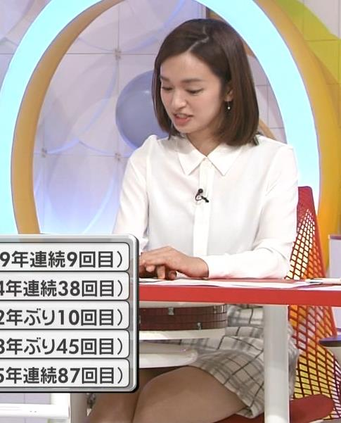 後藤晴菜 机の下のミニスカ太ももがエロかったキャプ画像(エロ・アイコラ画像)
