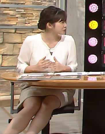 久冨慶子 久しぶりに太ももデルタゾーン大サービス画像