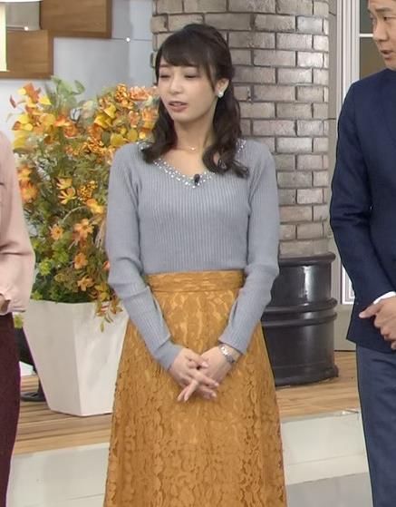 宇垣美里 インナー透けニットおっぱいキャプ画像(エロ・アイコラ画像)