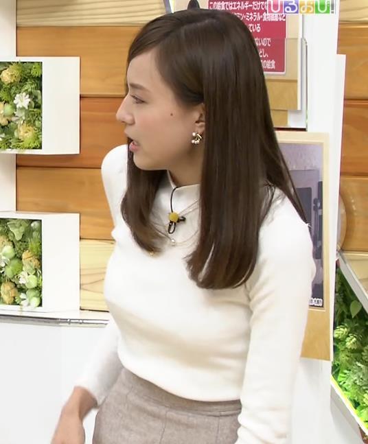 笹川友里 美人巨乳アナのニットおっぱいキャプ画像(エロ・アイコラ画像)