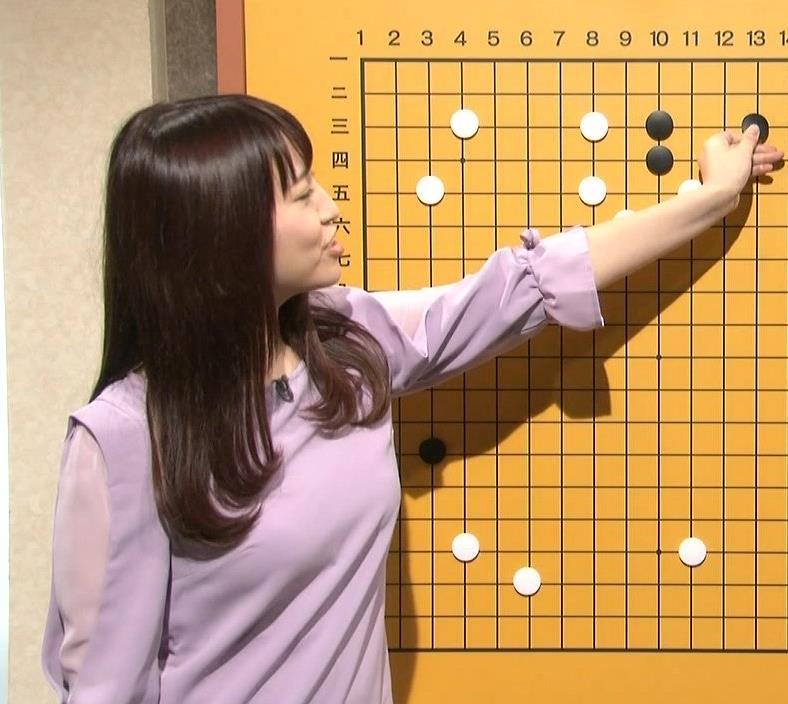 戸島花 巨乳のせいで囲碁の番組エロくなってるキャプ画像(エロ・アイコラ画像)