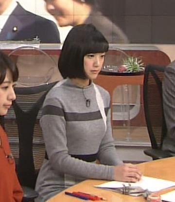 竹内由恵 胸のサイズがわかりやすいふくらみキャプ画像(エロ・アイコラ画像)