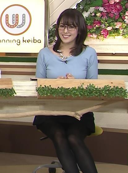 鷲見玲奈 巨乳×黒ストッキングキャプ画像(エロ・アイコラ画像)