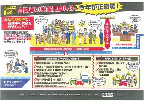<自動車総連 栃木地方協議会>より要望!③