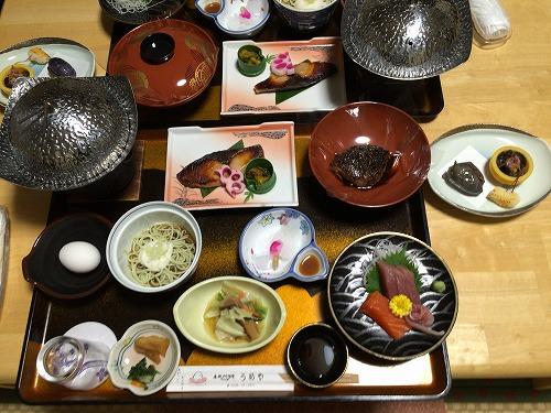 小野川温泉 うめや旅館(食事)
